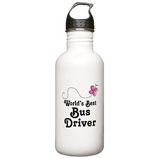 Cute Bus Driver Gift Water Bottle