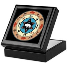 White Buffalo Medicine Wheel Keepsake Box