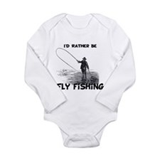 Fly Fishing Long Sleeve Infant Bodysuit