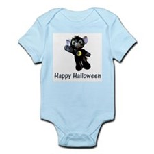 Happy Halloween Moon Kitten Infant Creeper