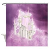 Pink Fairytale Castle Shower Curtain