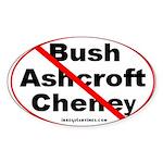 Bush, Ashcroft, Cheney Oval Sticker