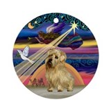 Xmas Star & Norfolk Terrier Ornament (Round)