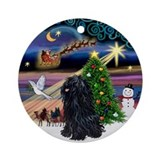 Xmas Magic with a Puli Ornament (Round)