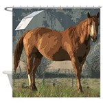 Horse scene Shower Curtain