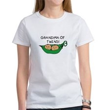 Grandma of Twins Pod T-Shirt