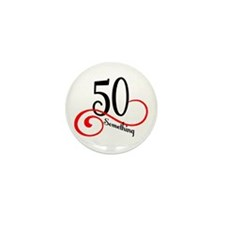 Cute Cute 50th birthday Mini Button (10 pack)