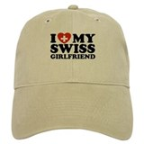 I Love My Swiss Girlfriend Baseball Cap