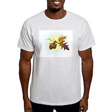 Autumn Oak & Acorn Ash Grey T-Shirt