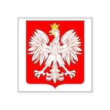 Polish Eagle Shield Rectangle Sticker