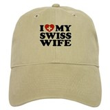 I Love My Swiss Wife Baseball Cap