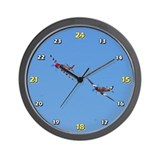 P-51 Military time Wall Clock