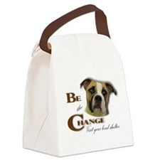 Be the Change Pit.png Canvas Lunch Bag