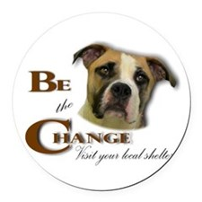 Be the Change Pit.png Round Car Magnet