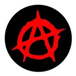 Anarchy A Round Car Magnet