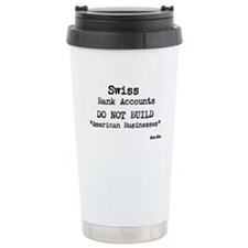 Swiss Bank Accounts Ceramic Travel Mug