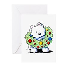Westie Wreath Greeting Cards (Pk of 20)