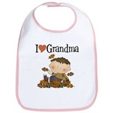 Autumn Boy I Love Grandma Bib