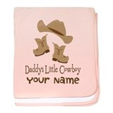 Daddys Little Cowboy baby blanket