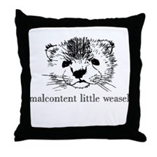 Malcontent Weasel Throw Pillow
