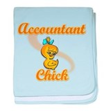 Accountant Chick #2 baby blanket