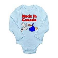 Made In Canada Boy Long Sleeve Infant Bodysuit