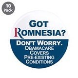 "Got Romnesia? 3.5"" Button (10 pack)"