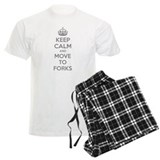 Keep calm and move to forks pajamas