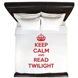 Keep calm and read twilight King Duvet