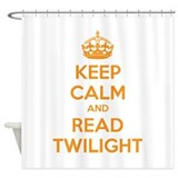 Keep calm and read twilight Shower Curtain