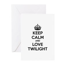 Keep calm and love twilight Greeting Cards (Pk of