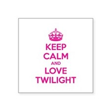 "Keep calm and love twilight Square Sticker 3"" x 3"""