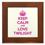 Keep calm and love twilight Framed Tile