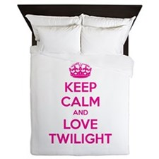 Keep calm and love twilight Queen Duvet