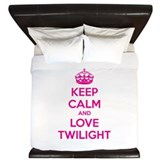 Keep calm and love twilight King Duvet