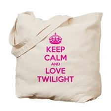 Keep calm and love twilight Tote Bag