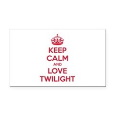 Keep calm and love twilight Rectangle Car Magnet