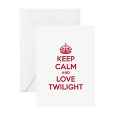 Keep calm and love twilight Greeting Card