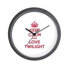 Keep calm and love twilight Wall Clock