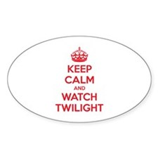Keep calm and watch twilight Sticker (Oval)