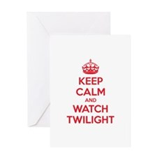 Keep calm and watch twilight Greeting Card