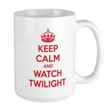 Keep calm and watch twilight Large Mug