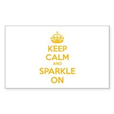 Keep calm and sparkle on Sticker (Rectangle 10 pk)