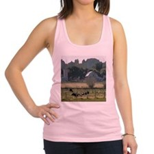 Cows in country Racerback Tank Top