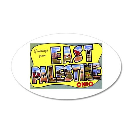 East Palestine Ohio Greetings 35x21 Oval Wall Deca