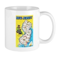 New Jersey Map Greetings Mug