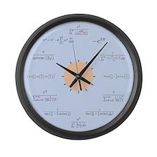 Math Large Wall Clock (blue)