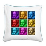 Shakespeare Pop Art Square Canvas Pillow