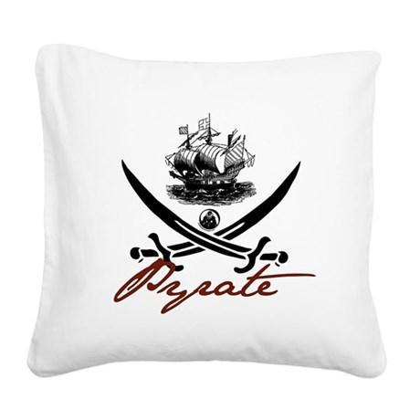 pirate1-light.png Square Canvas Pillow