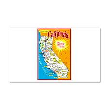 California Map Greetings Car Magnet 20 x 12
